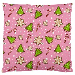 Ginger Cookies Christmas Pattern Large Cushion Case (one Side)