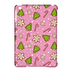 Ginger Cookies Christmas Pattern Apple Ipad Mini Hardshell Case (compatible With Smart Cover)
