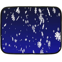 Blue Sky Christmas Snowflake Fleece Blanket (mini)