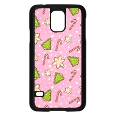 Ginger Cookies Christmas Pattern Samsung Galaxy S5 Case (black)