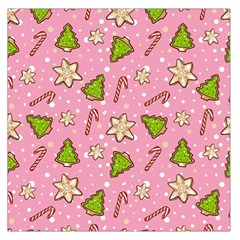 Ginger Cookies Christmas Pattern Large Satin Scarf (square)