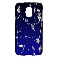 Blue Sky Christmas Snowflake Galaxy S5 Mini