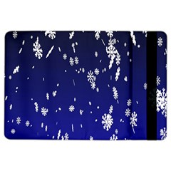 Blue Sky Christmas Snowflake Ipad Air 2 Flip