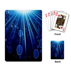 Blue Rays Light Stars Space Playing Card