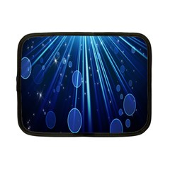Blue Rays Light Stars Space Netbook Case (small)