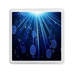 Blue Rays Light Stars Space Memory Card Reader (square)