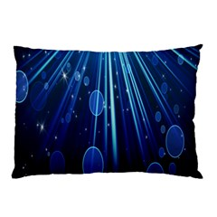 Blue Rays Light Stars Space Pillow Case (two Sides)