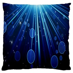 Blue Rays Light Stars Space Large Cushion Case (two Sides)