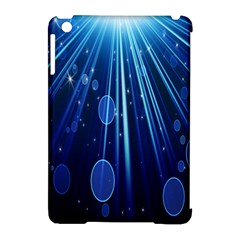 Blue Rays Light Stars Space Apple Ipad Mini Hardshell Case (compatible With Smart Cover)