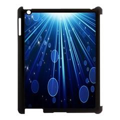 Blue Rays Light Stars Space Apple Ipad 3/4 Case (black)