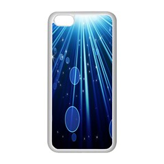 Blue Rays Light Stars Space Apple Iphone 5c Seamless Case (white)
