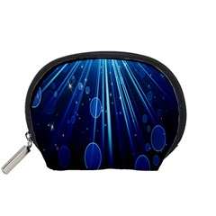 Blue Rays Light Stars Space Accessory Pouches (small)
