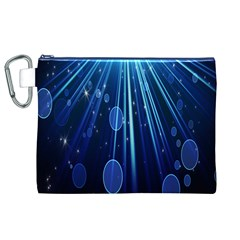 Blue Rays Light Stars Space Canvas Cosmetic Bag (xl)