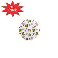 Ginger Cookies Christmas Pattern 1  Mini Magnet (10 Pack)