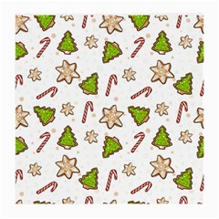 Ginger Cookies Christmas Pattern Medium Glasses Cloth (2 Side)