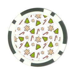Ginger Cookies Christmas Pattern Poker Chip Card Guard (10 Pack)