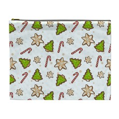 Ginger Cookies Christmas Pattern Cosmetic Bag (xl)