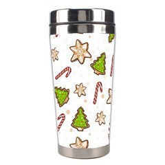 Ginger Cookies Christmas Pattern Stainless Steel Travel Tumblers