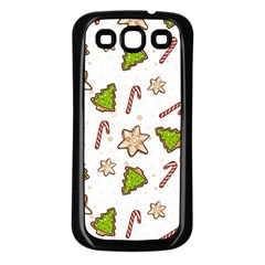 Ginger Cookies Christmas Pattern Samsung Galaxy S3 Back Case (black)
