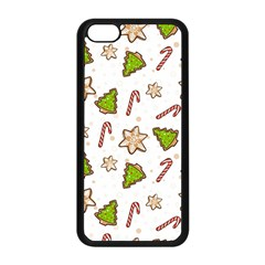 Ginger Cookies Christmas Pattern Apple Iphone 5c Seamless Case (black)