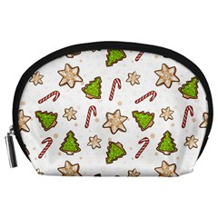 Ginger Cookies Christmas Pattern Accessory Pouches (large)