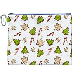 Ginger Cookies Christmas Pattern Canvas Cosmetic Bag (xxxl)