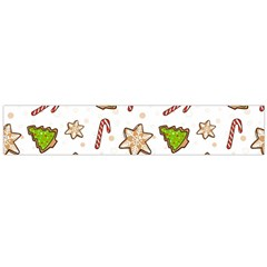 Ginger Cookies Christmas Pattern Flano Scarf (large)