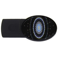 Colorful Hypnotic Circular Rings Space Usb Flash Drive Oval (4 Gb)