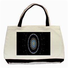 Colorful Hypnotic Circular Rings Space Basic Tote Bag (two Sides)