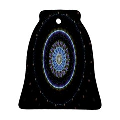 Colorful Hypnotic Circular Rings Space Bell Ornament (two Sides)