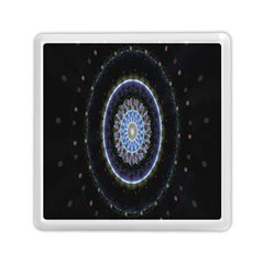 Colorful Hypnotic Circular Rings Space Memory Card Reader (square)