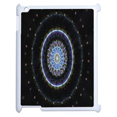Colorful Hypnotic Circular Rings Space Apple Ipad 2 Case (white)