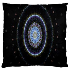 Colorful Hypnotic Circular Rings Space Large Cushion Case (one Side)