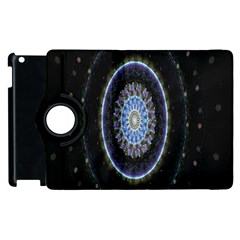 Colorful Hypnotic Circular Rings Space Apple Ipad 3/4 Flip 360 Case