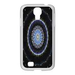 Colorful Hypnotic Circular Rings Space Samsung Galaxy S4 I9500/ I9505 Case (white)