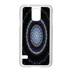 Colorful Hypnotic Circular Rings Space Samsung Galaxy S5 Case (white)