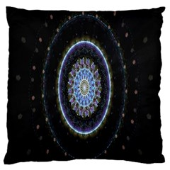 Colorful Hypnotic Circular Rings Space Standard Flano Cushion Case (two Sides)