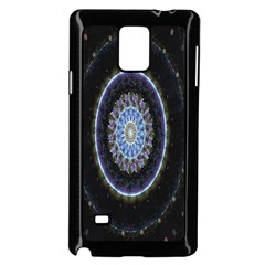 Colorful Hypnotic Circular Rings Space Samsung Galaxy Note 4 Case (black)