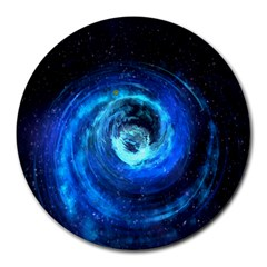 Blue Black Hole Galaxy Round Mousepads