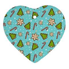 Ginger Cookies Christmas Pattern Ornament (heart)