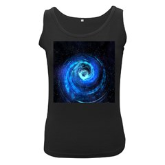 Blue Black Hole Galaxy Women s Black Tank Top