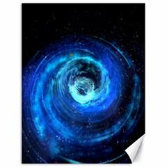 Blue Black Hole Galaxy Canvas 18  X 24