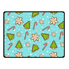 Ginger Cookies Christmas Pattern Fleece Blanket (small)
