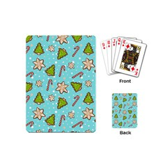 Ginger Cookies Christmas Pattern Playing Cards (mini)