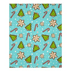 Ginger Cookies Christmas Pattern Shower Curtain 60  X 72  (medium)