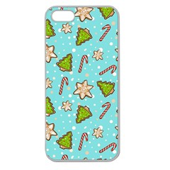 Ginger Cookies Christmas Pattern Apple Seamless Iphone 5 Case (clear)