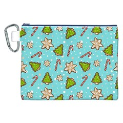 Ginger Cookies Christmas Pattern Canvas Cosmetic Bag (xxl)