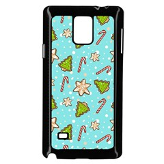 Ginger Cookies Christmas Pattern Samsung Galaxy Note 4 Case (black)