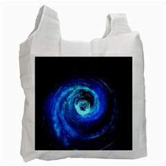 Blue Black Hole Galaxy Recycle Bag (one Side)