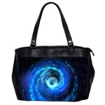 Blue Black Hole Galaxy Office Handbags (2 Sides)  Front